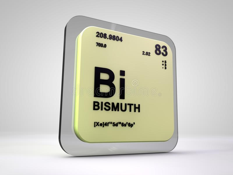 Bismuth - Bi - chemical element periodic table stock illustration