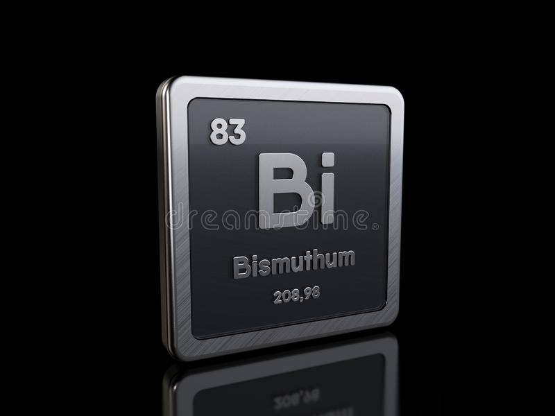 Bismuth Bi, element symbol from periodic table series stock illustration