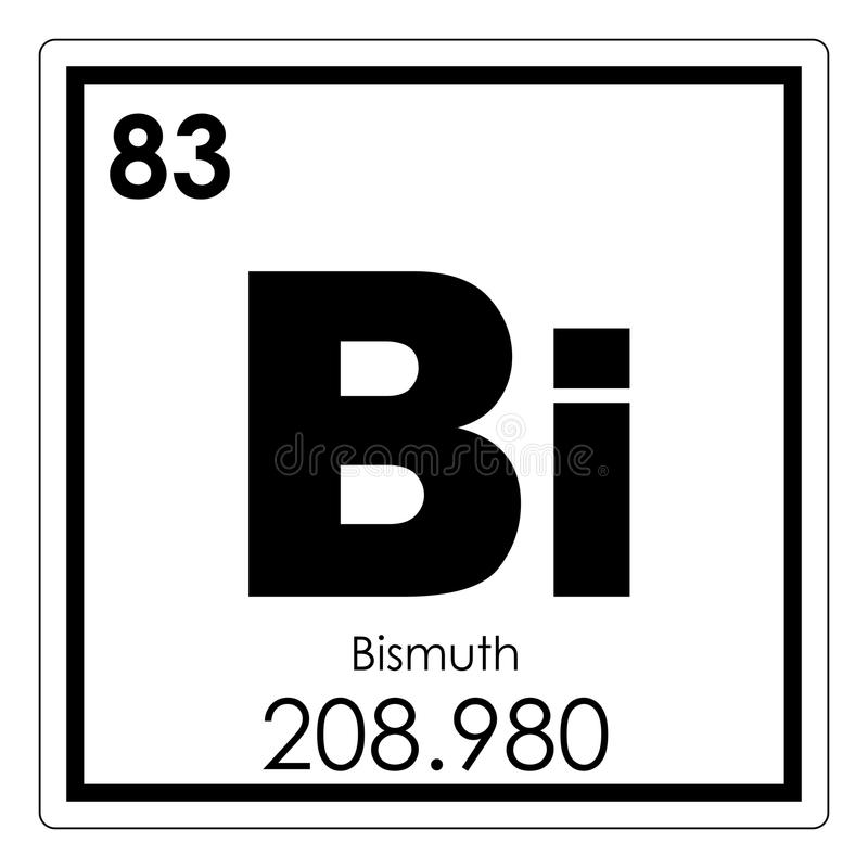 Bismuth chemical element royalty free illustration
