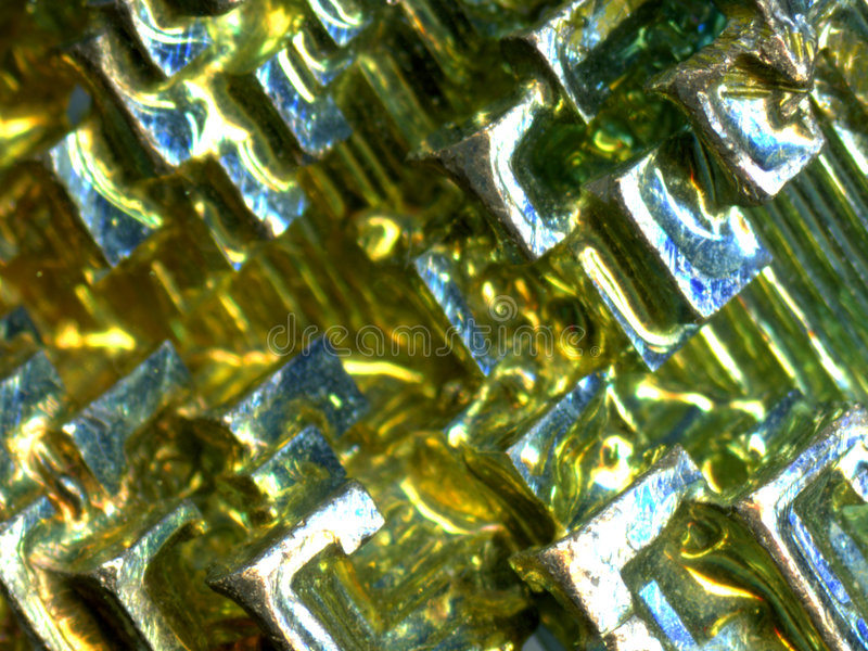 Bismuth crystal stock photos