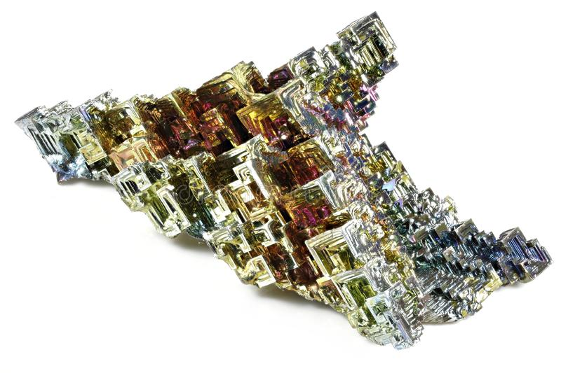 Bismuth crystal royalty free stock photos