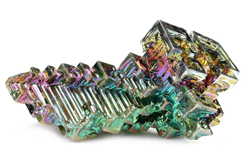 Bismuth crystal royalty free stock photography