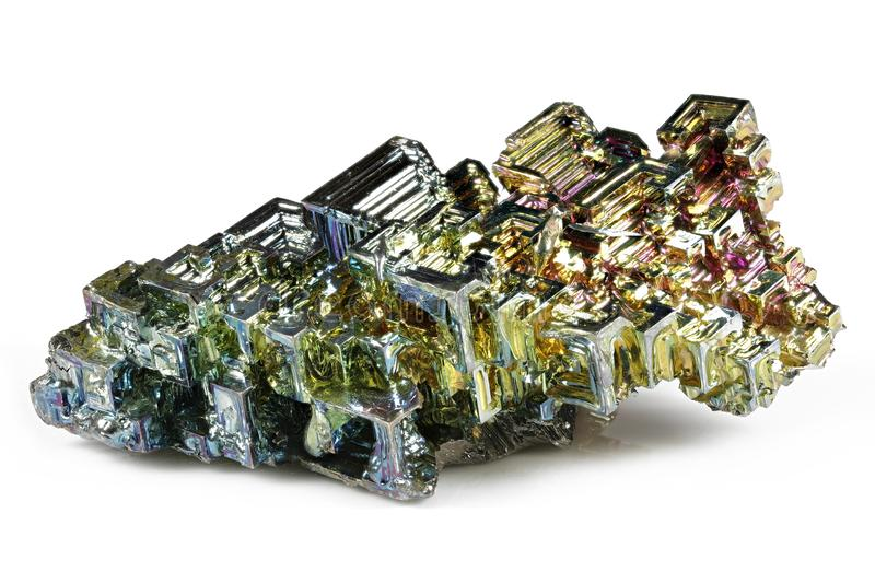 Bismuth crystal royalty free stock image