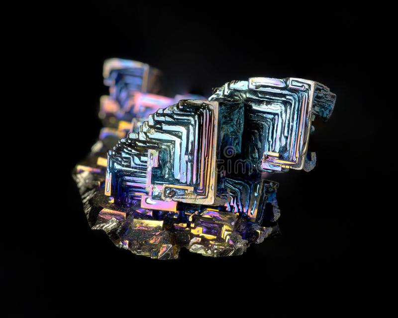 Bismuth Crystal royalty free stock photo