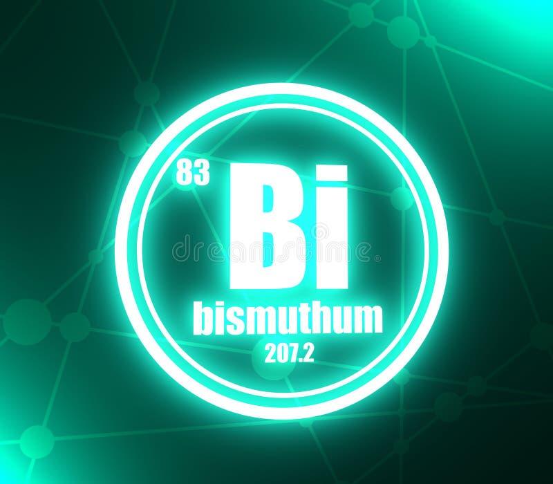 Bismuthum chemisch element royalty-vrije illustratie
