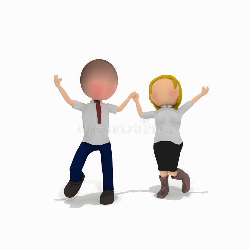 Bisness radości przypadkowy taniec świętuje royalty ilustracja