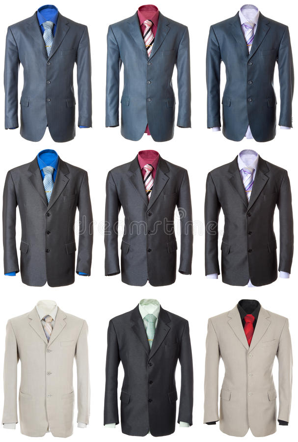 Bisness suit set | Isolated royalty free stock images