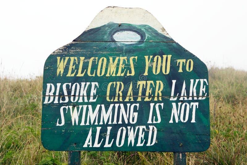 bisoke krateru jezioro obraz royalty free
