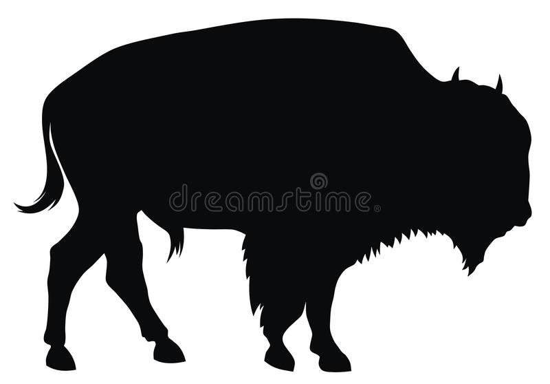 Download Bison stock illustration. Image of bull, silhouette, bison - 9378332