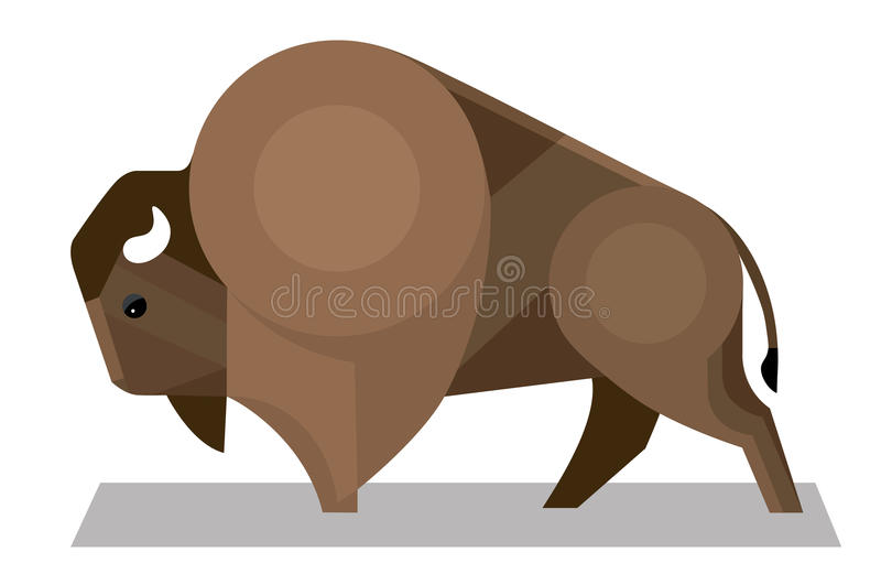 Bison dans un style minimaliste illustration libre de droits