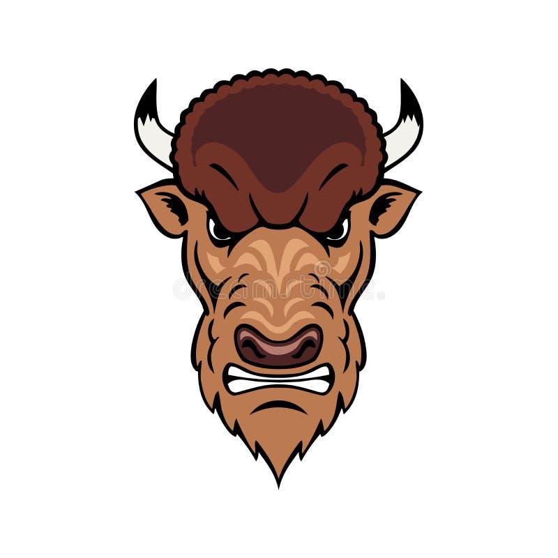 Bison Mascot Head ilustración del vector