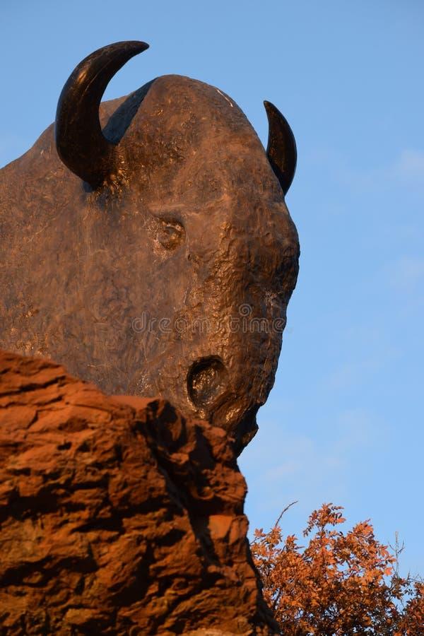 Bison Sculptures imagem de stock