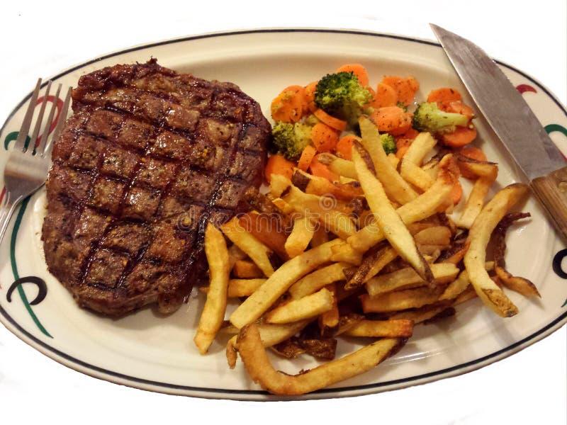Bison Steak Dish fotografia stock