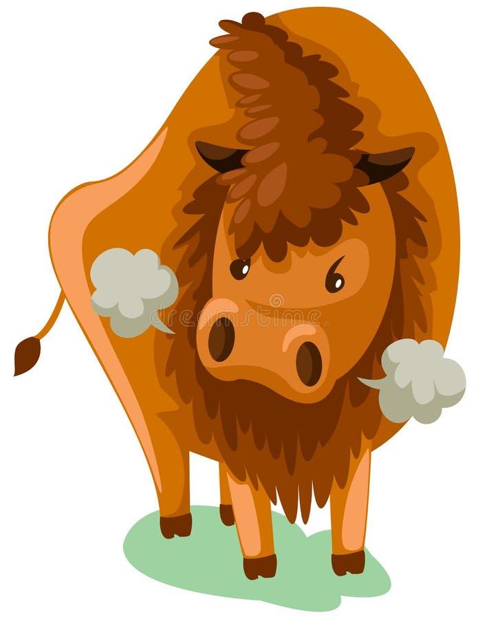 Bisonte stock de ilustración