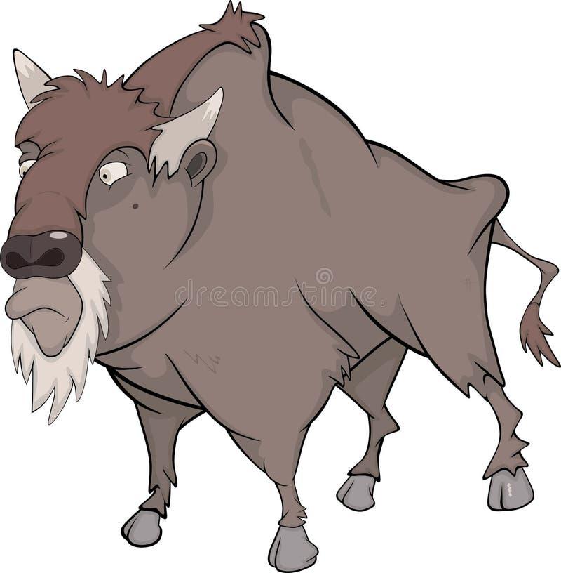 Bisonte, búfalo stock de ilustración