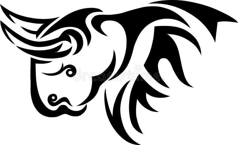Bisonte tribal ilustración del vector