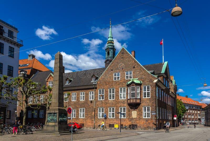 Bispetorv e casa do bispo em Copenhaga, Dinamarca fotografia de stock