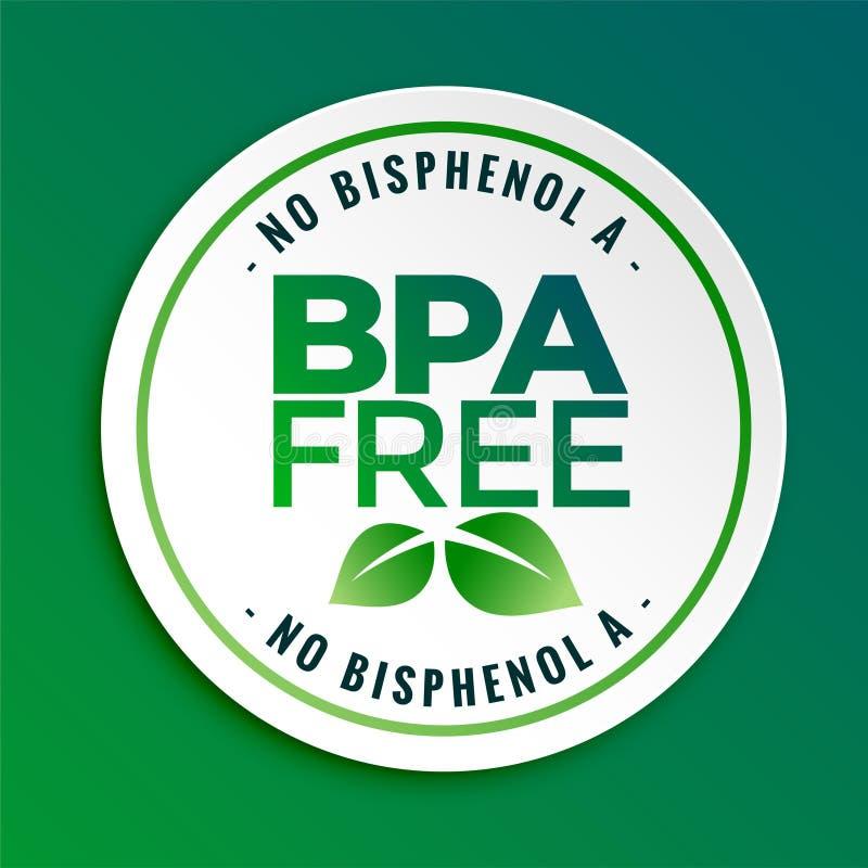 Bisphenol-a de Bpa y etiqueta libre del sello de la insignia de los ftalatos ilustración del vector