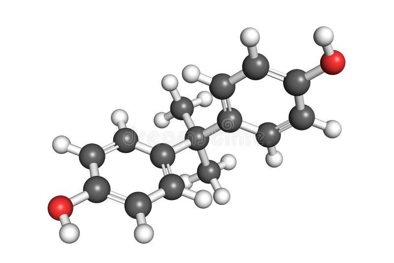 Bisphenol A strukturerar vektor illustrationer
