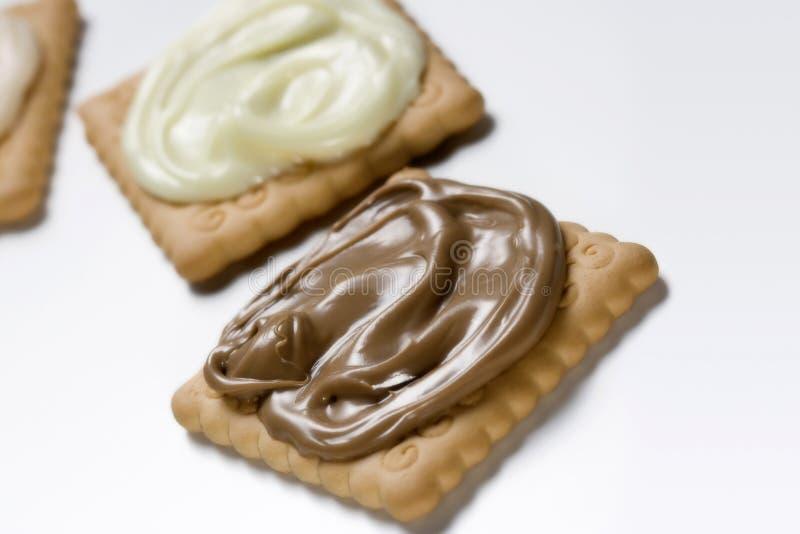 Bisquit con crema fotografía de archivo libre de regalías