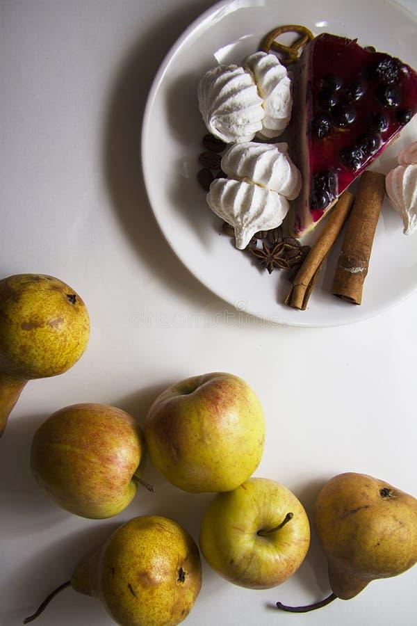 Bisquits en vruchten 02 stock fotografie