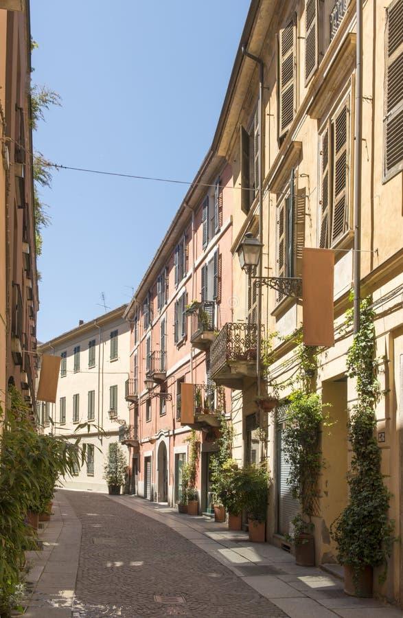 Bissatistraat, Alexandria, Italië royalty-vrije stock foto's
