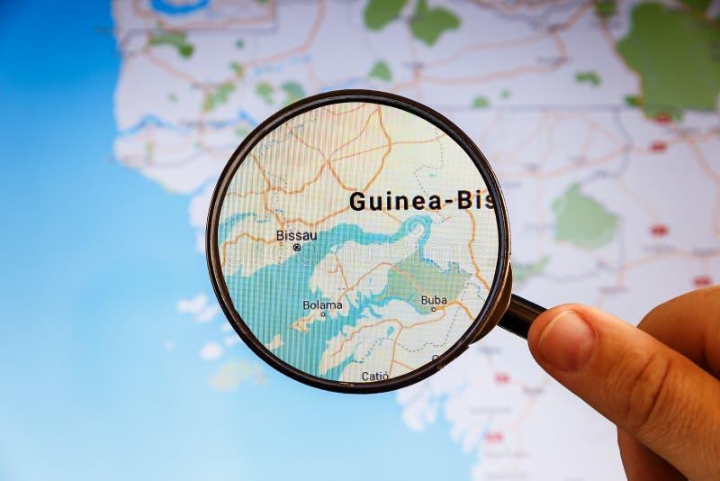 Bissau, Guinea-Bissau correspondencia pol?tica imagenes de archivo