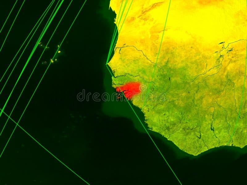 Bissau na cyfrowej mapie royalty ilustracja