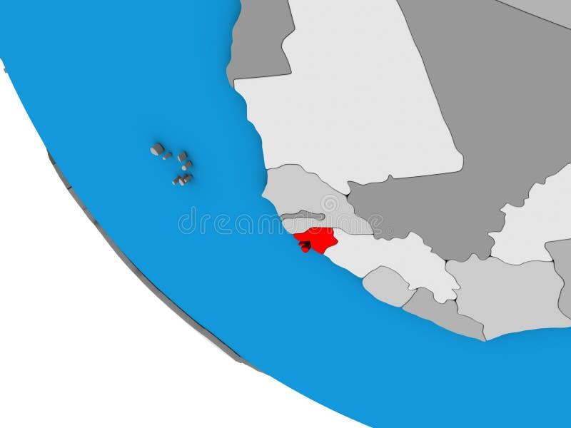 Bissau na 3D kuli ziemskiej royalty ilustracja