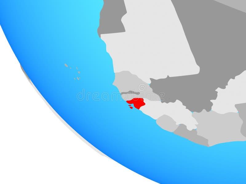 Bissau na kuli ziemskiej ilustracja wektor