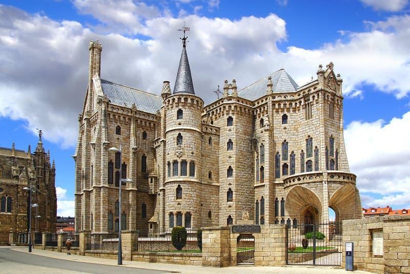 Bisschoppelijk paleis, Astorga royalty-vrije stock foto