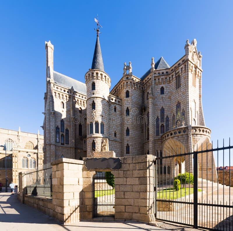 Bisschoppelijk Paleis van Astorga royalty-vrije stock afbeelding