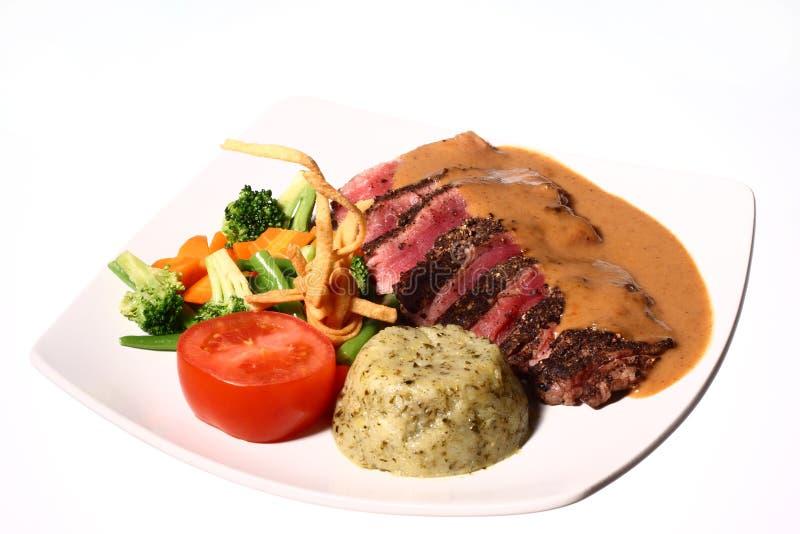 Bistecca & verdure 02 fotografia stock