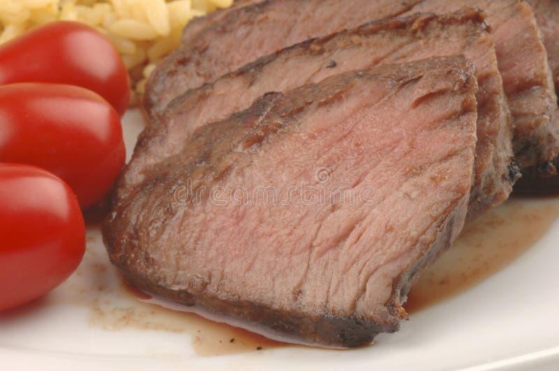 Bistecca arrostita col barbecue immagine stock libera da diritti