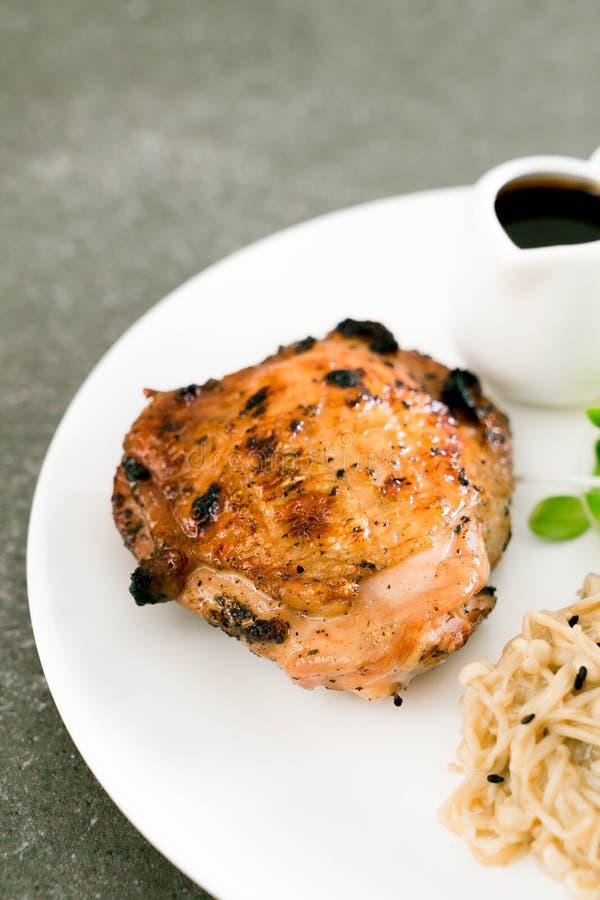 Bistecca arrostita del pollo fotografia stock libera da diritti