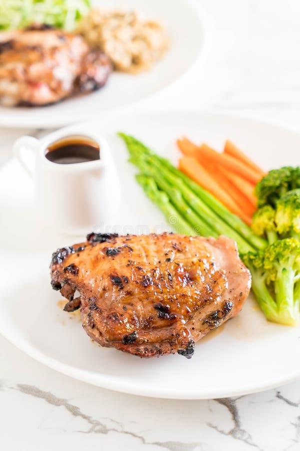 Bistecca arrostita del pollo immagine stock libera da diritti