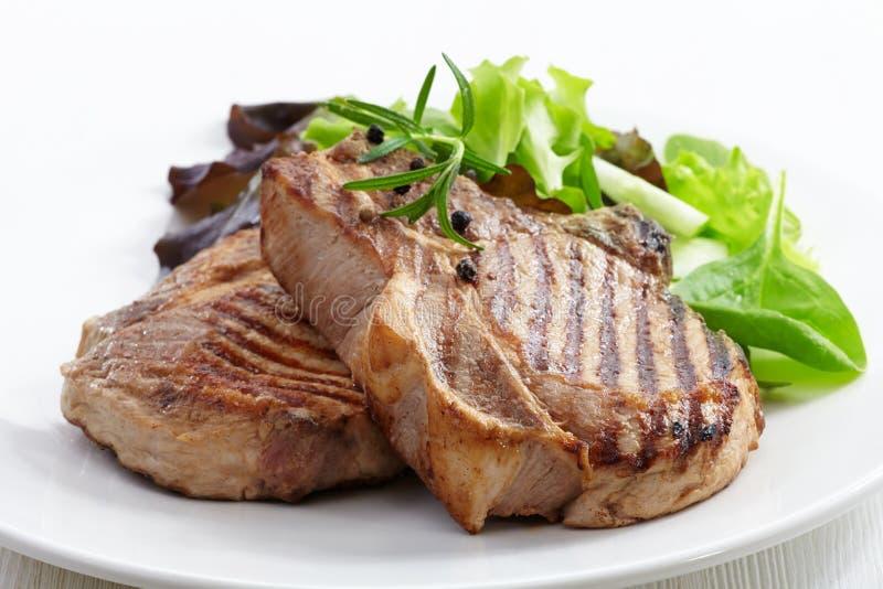 Bistecca arrostita della carne fotografia stock