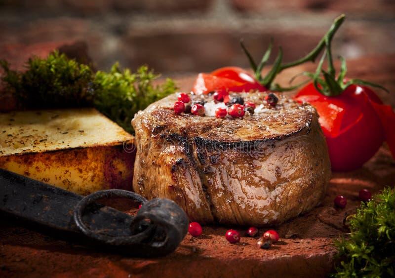 Bistecca cotta immagine stock