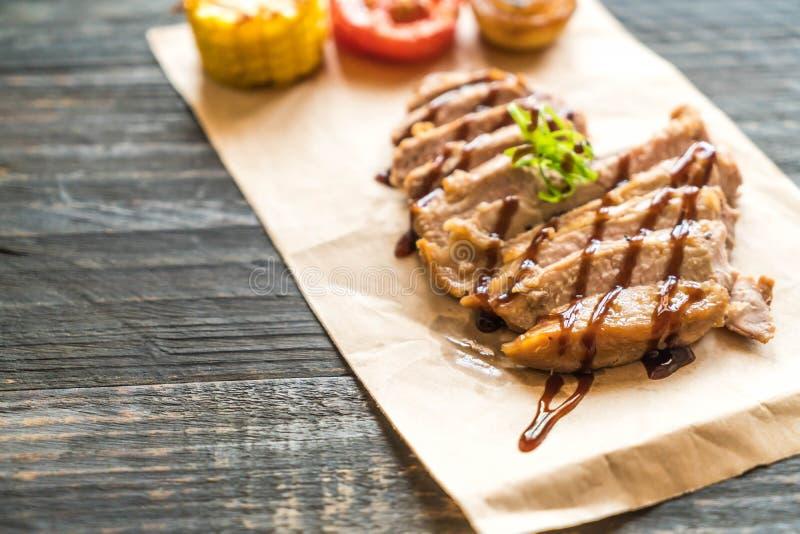 Bistecca cotta del porco fotografie stock