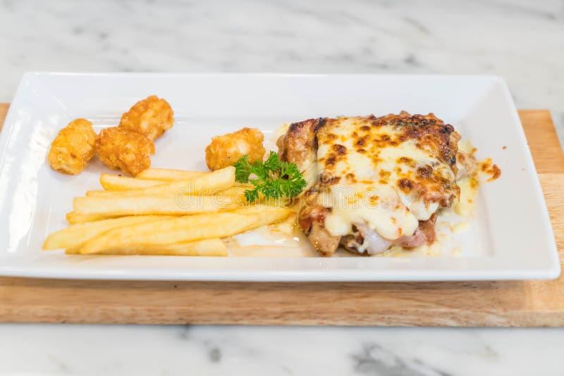 bistecca del bacon e del pollo immagine stock libera da diritti