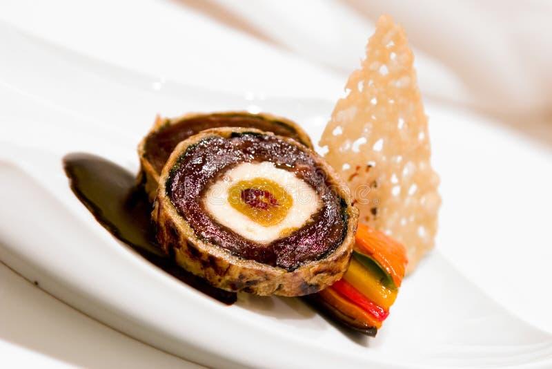 Bistecca del filetto della carne di cervo fotografia stock