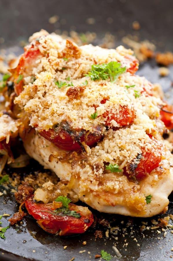 Bistecca del pollo con salsa fotografia stock libera da diritti