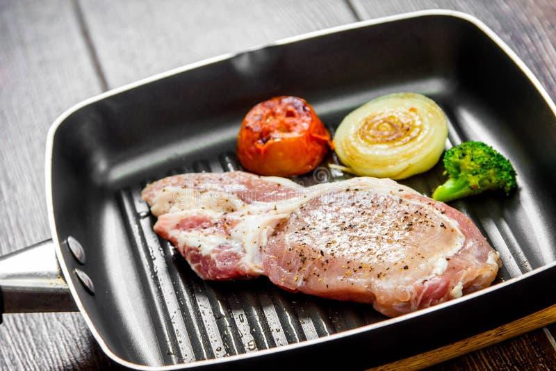 Bistecca del porco immagini stock libere da diritti