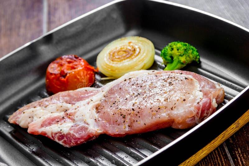 Bistecca del porco fotografie stock libere da diritti