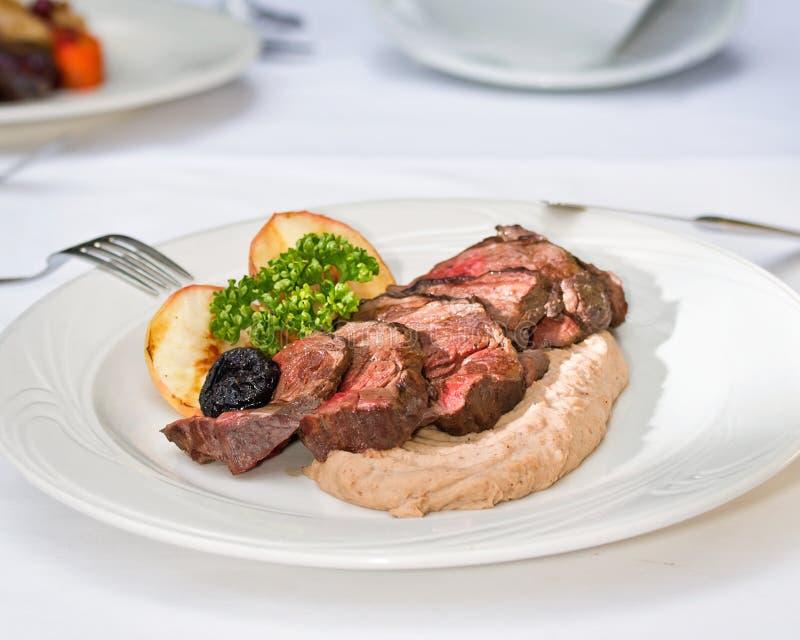 Bistecca della carne di cervo immagine stock libera da diritti