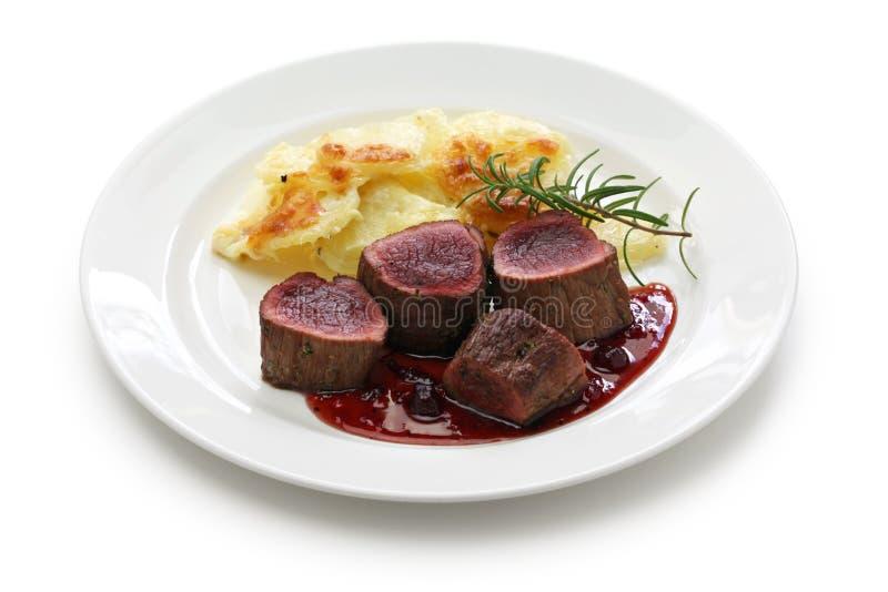 Bistecca della carne di cervo fotografia stock