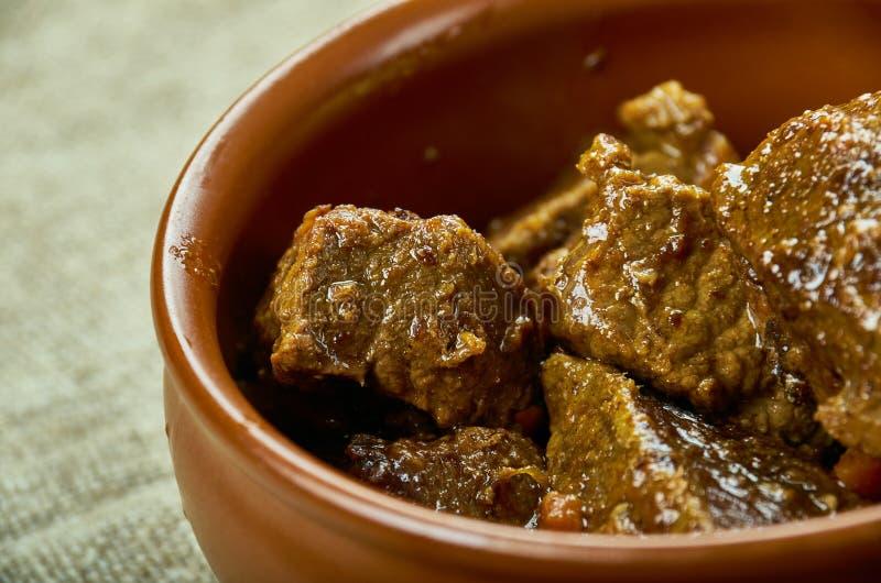Bistecca della carne di cervo del burro di Bourbon fotografia stock