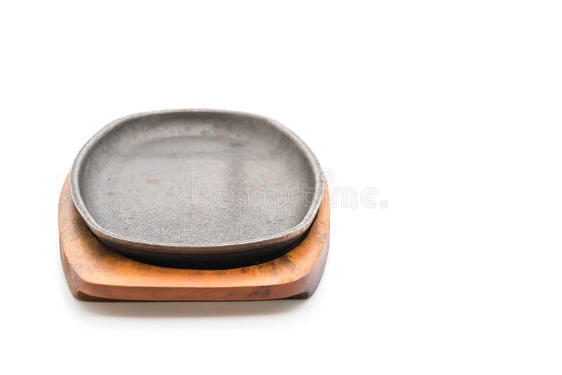 Bistecca della casseruola (piastra riscaldante) fotografia stock