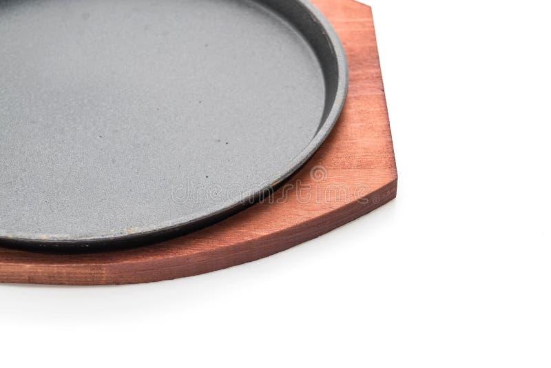 Bistecca della casseruola (piastra riscaldante) fotografia stock libera da diritti