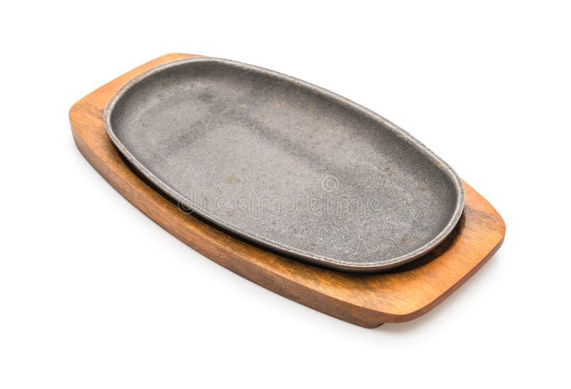 Bistecca della casseruola (piastra riscaldante) immagini stock libere da diritti